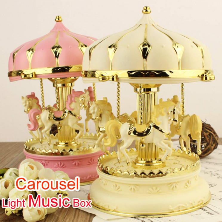 14 Absolutely Beautiful Carousel Music Boxes