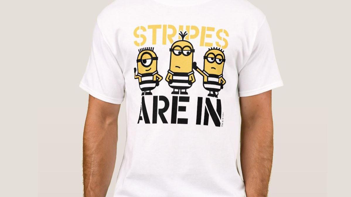 Stripes Are In Cute Minions Shirt