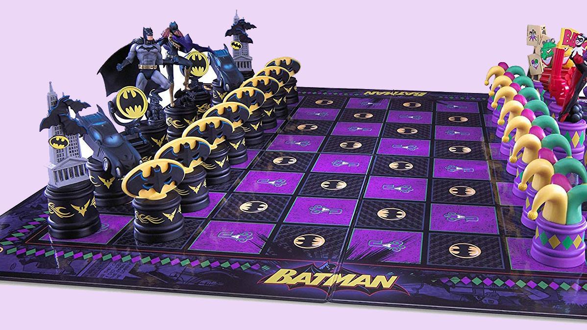 The Dark Knight vs The Joker Chess Set