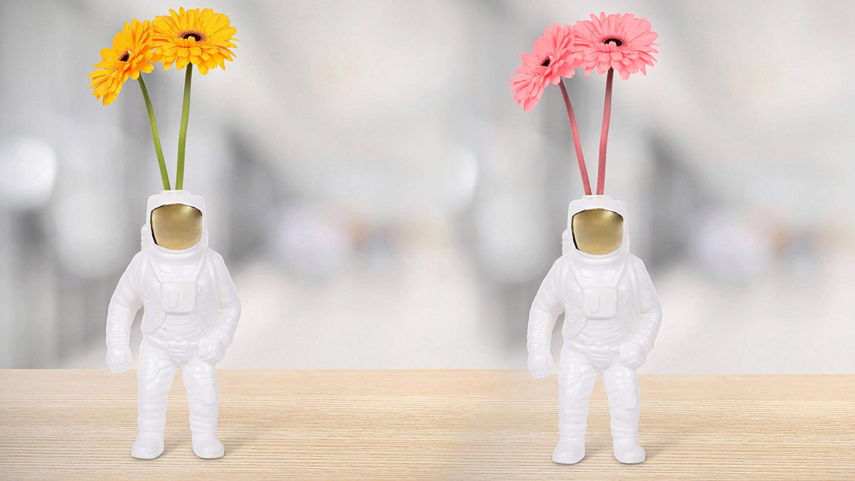 Unique Porcelain Astronaut Flower Vase