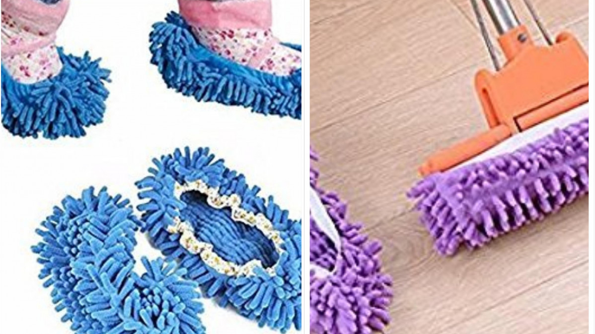 These Dust Mop Slippers Are for the Lazy Housekeeper!