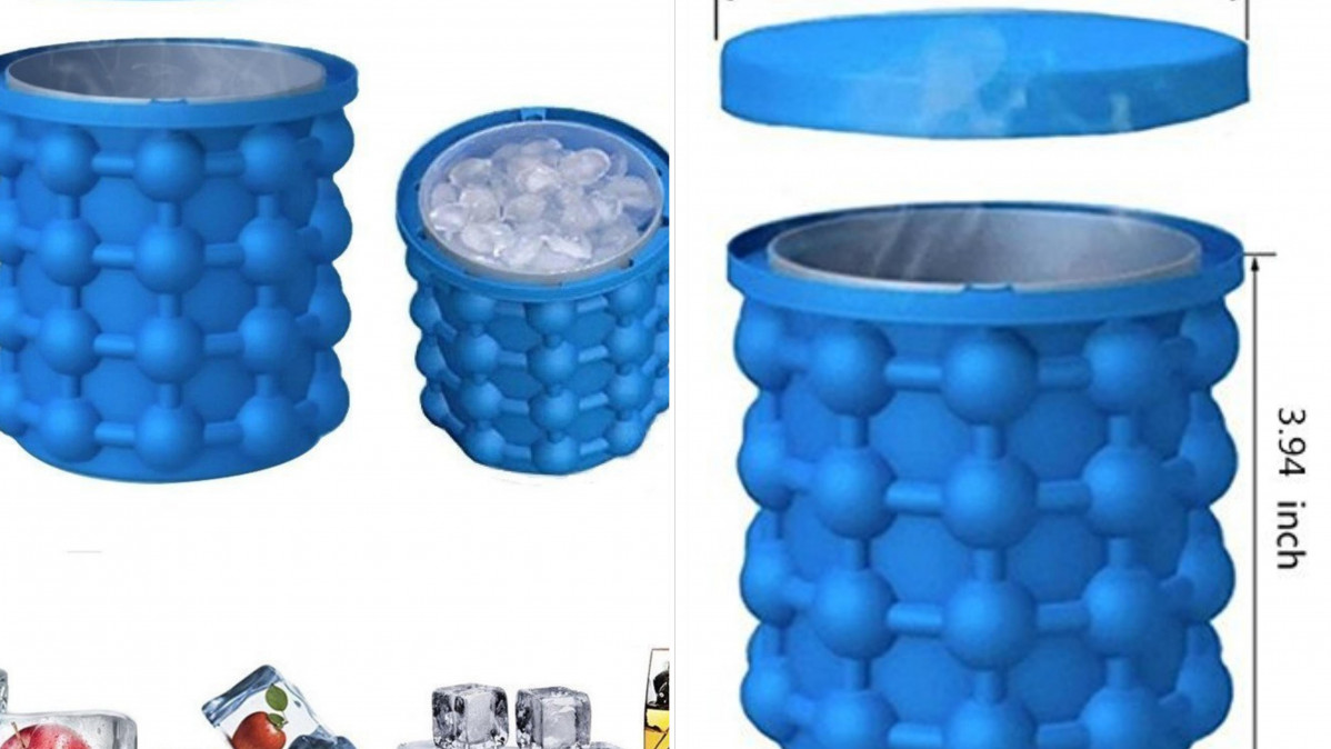 This Silicone Ice Cube Bucket Can Make 120 Cubes of Ice