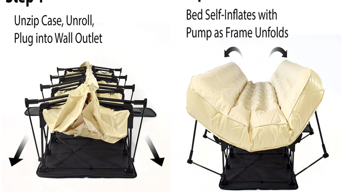 This Self-Inflating Bed Goes Full-Size in Just 4 Mins