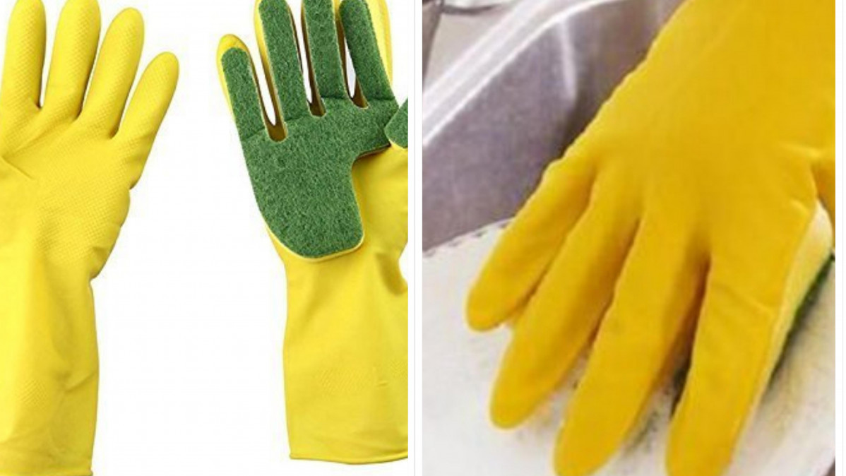 Sponge Cleaning Gloves Make Dish-Washing Easier!