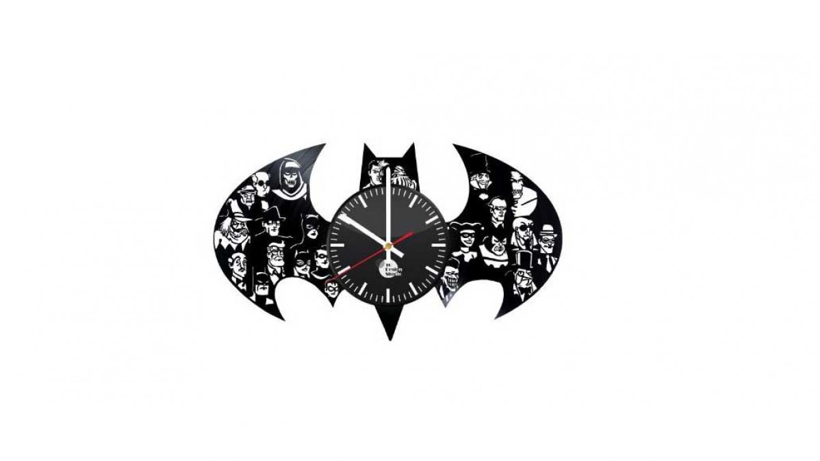 Vinyl Batman Clock