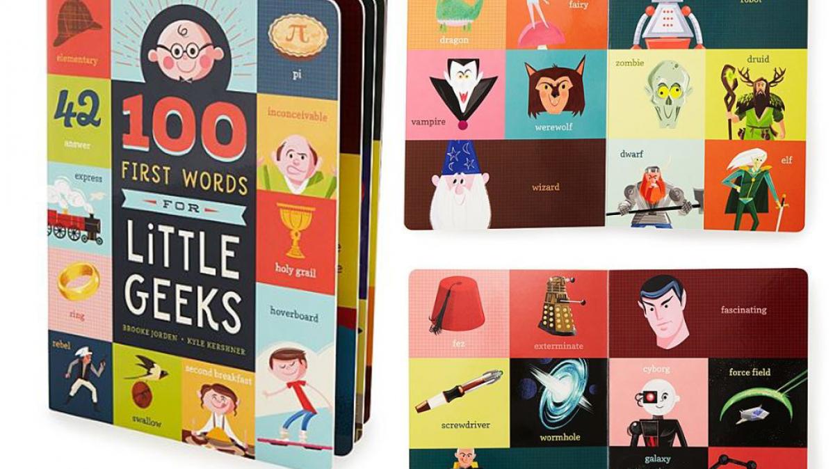 Children's Book 100 First Words For Little Geeks