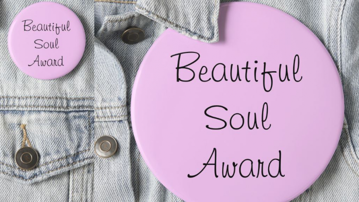 Beautiful Soul Award Pin On Button