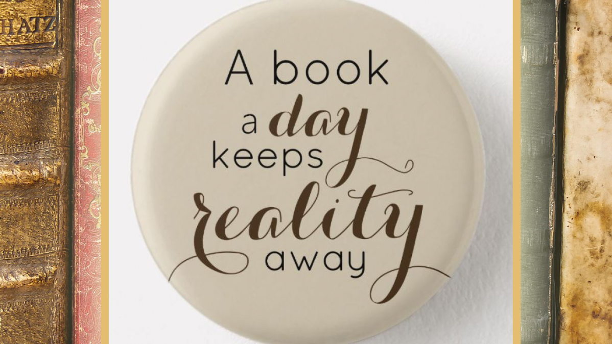 A Book A Day Bookworm Quote Button