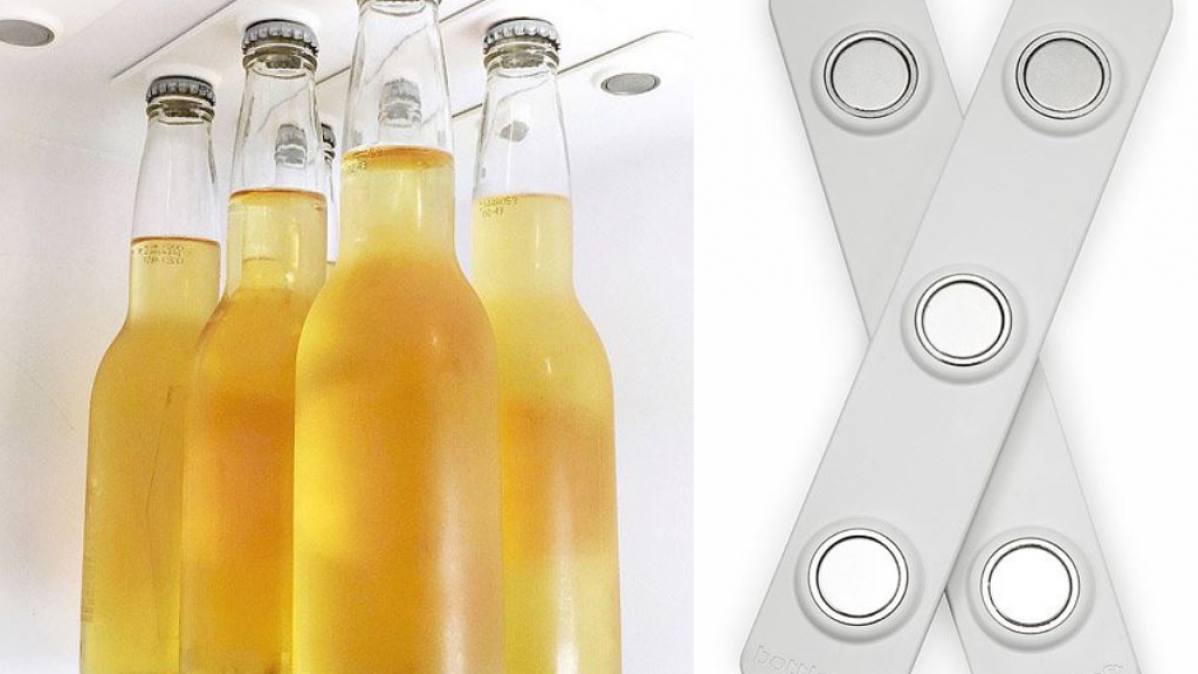 Innovative Magnetic Refrigerator Bottle Loft