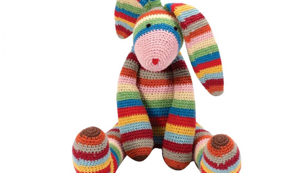Rainbow elephant - Toys - Crochetville | 674x1198