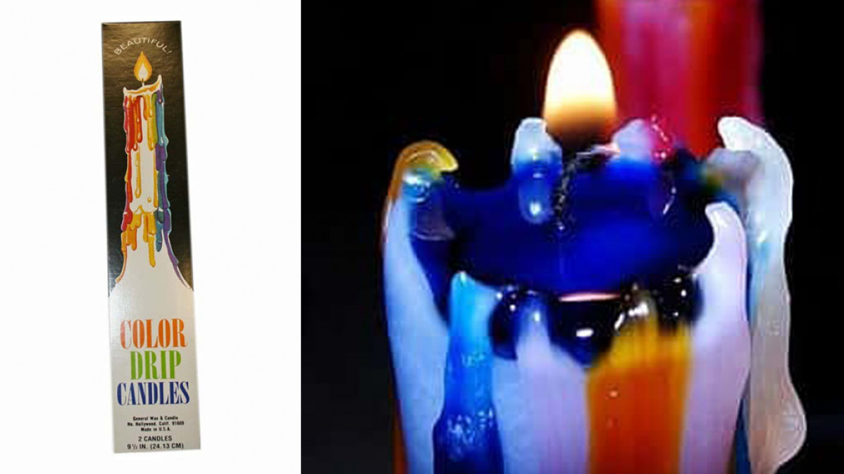 Rainbow Color Drip Candles