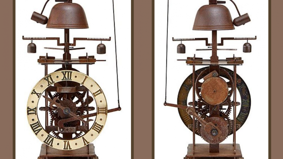 Handcrafted Gothic Mechanical Clock