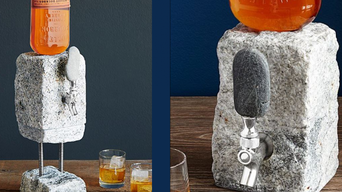 Cobbled Granite Drink Dispenser