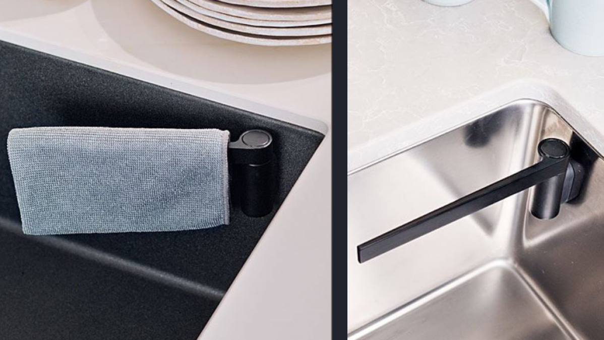 Clever Magnetic Dishcloth Holder