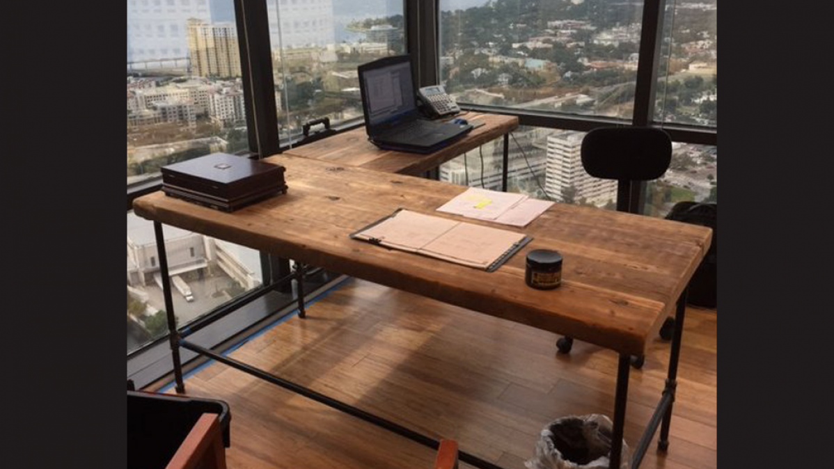 Urban Reclaimed Wood Corner Desk