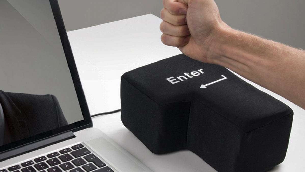 Giant Stress Relieving Enter Key