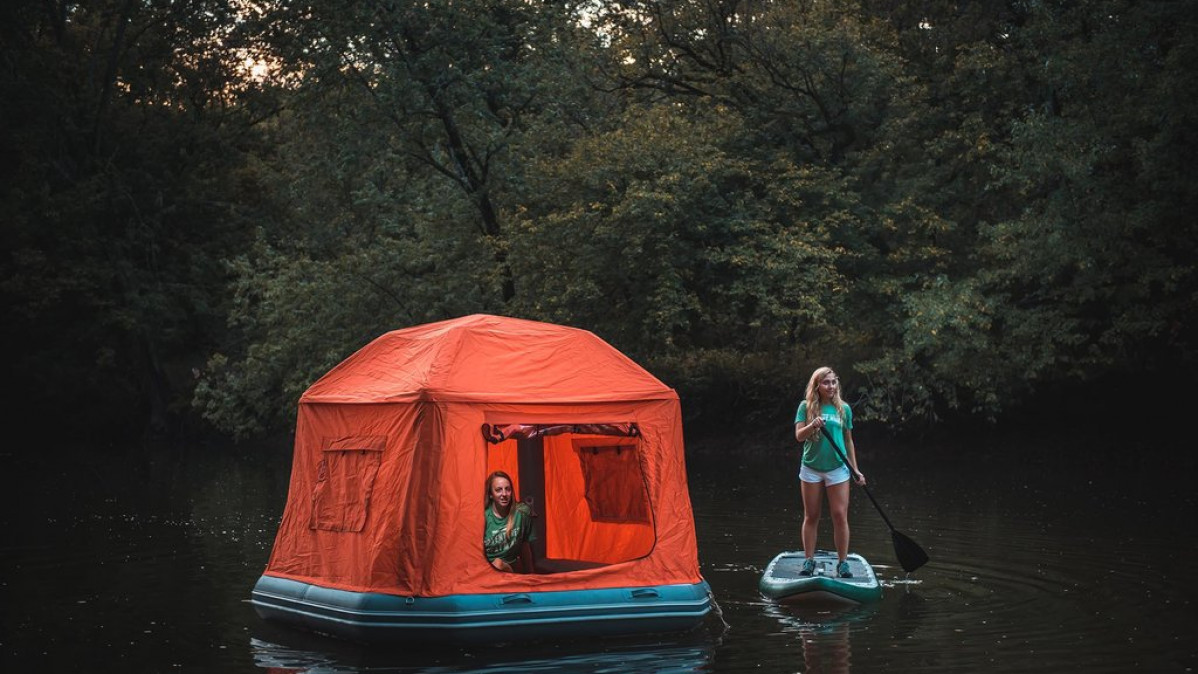 First Ever Innovative Floating Tent