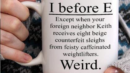 Funny Grammar Teacher Gift Mug