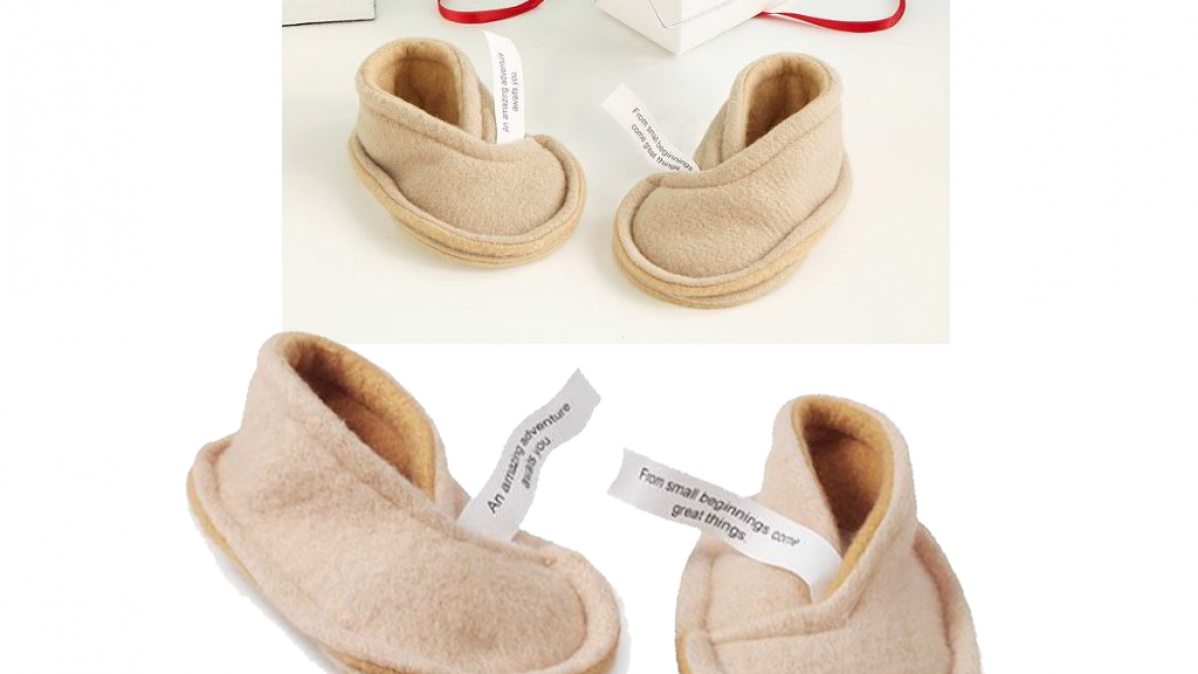 Sweet Fortune Cookie Baby Booties