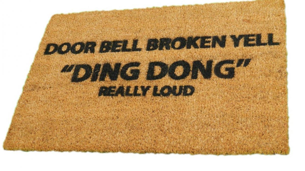 Funny Broken Bell Coir Doormat