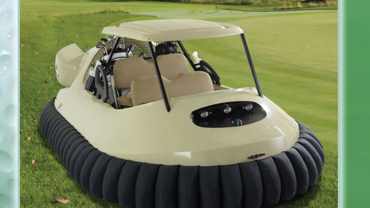 Aerodynamic Hovercraft Golf Cart