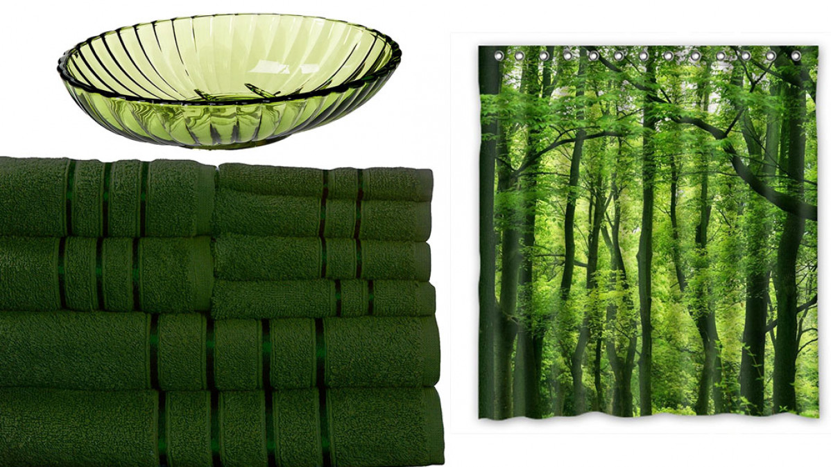 Green Bathroom Accessories for a Bright Natural Look