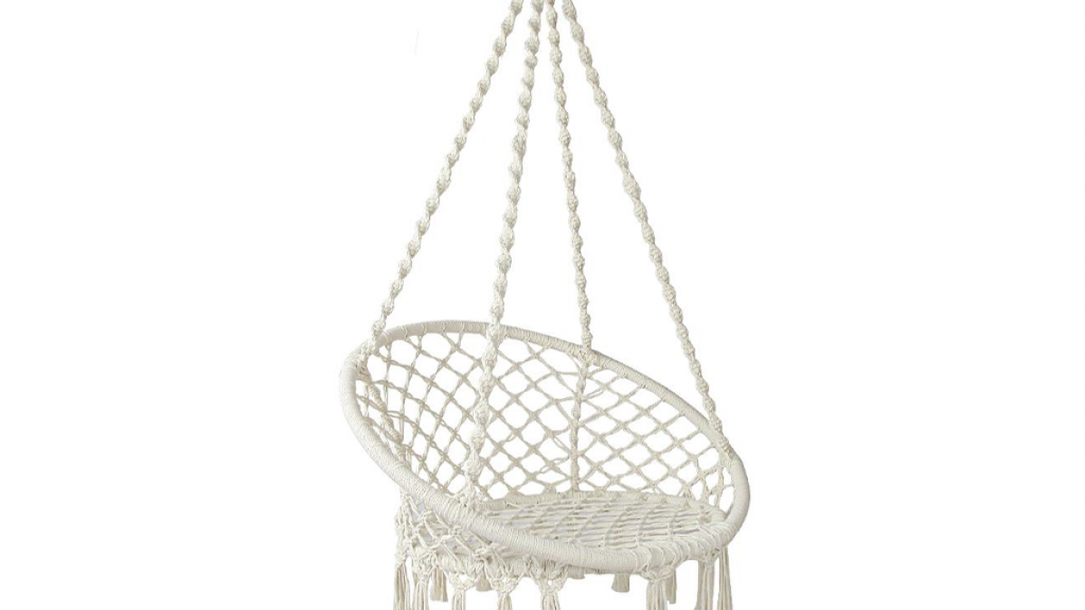 Summer White Hammock Swing Chair
