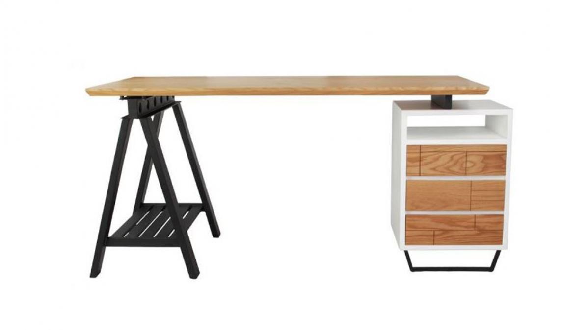 Solid American Oak Modern Vintage Desk