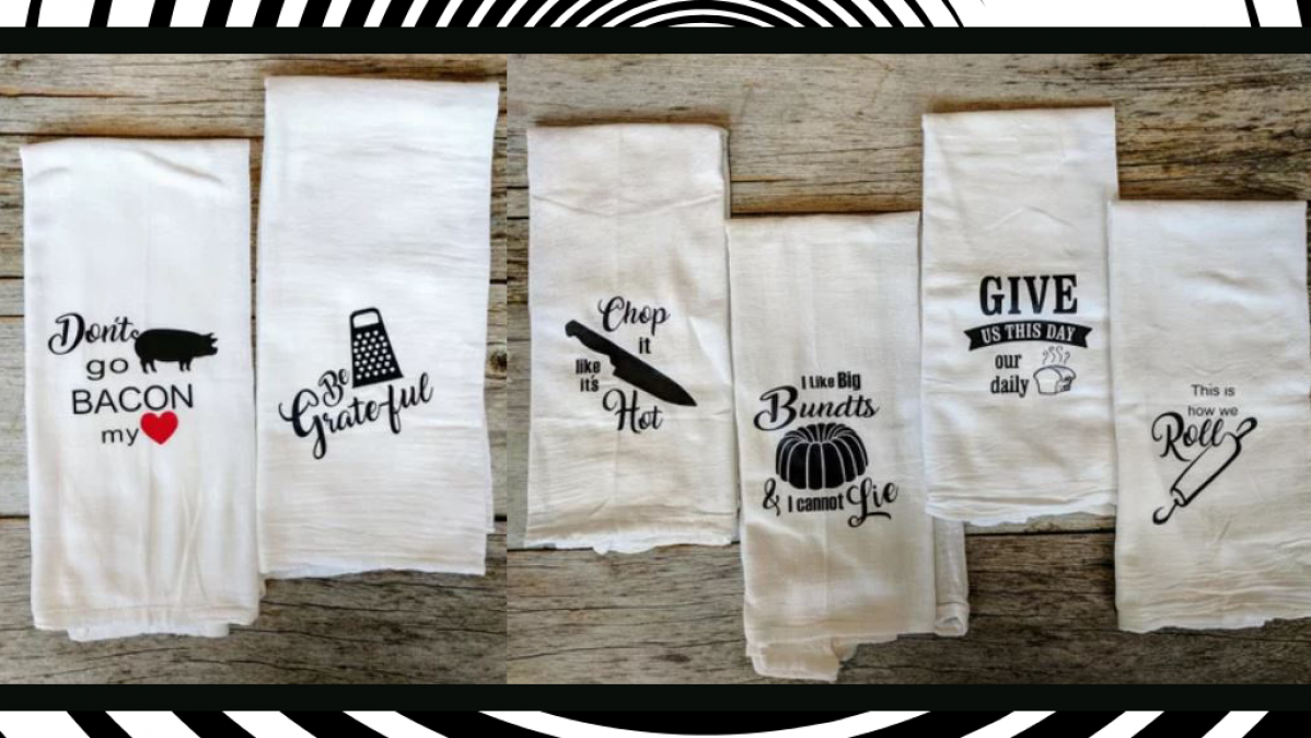 Extremely Funny Set Of Kitchen Towels