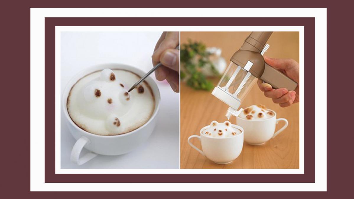 Creative and Fun 3D Coffee Art Maker
