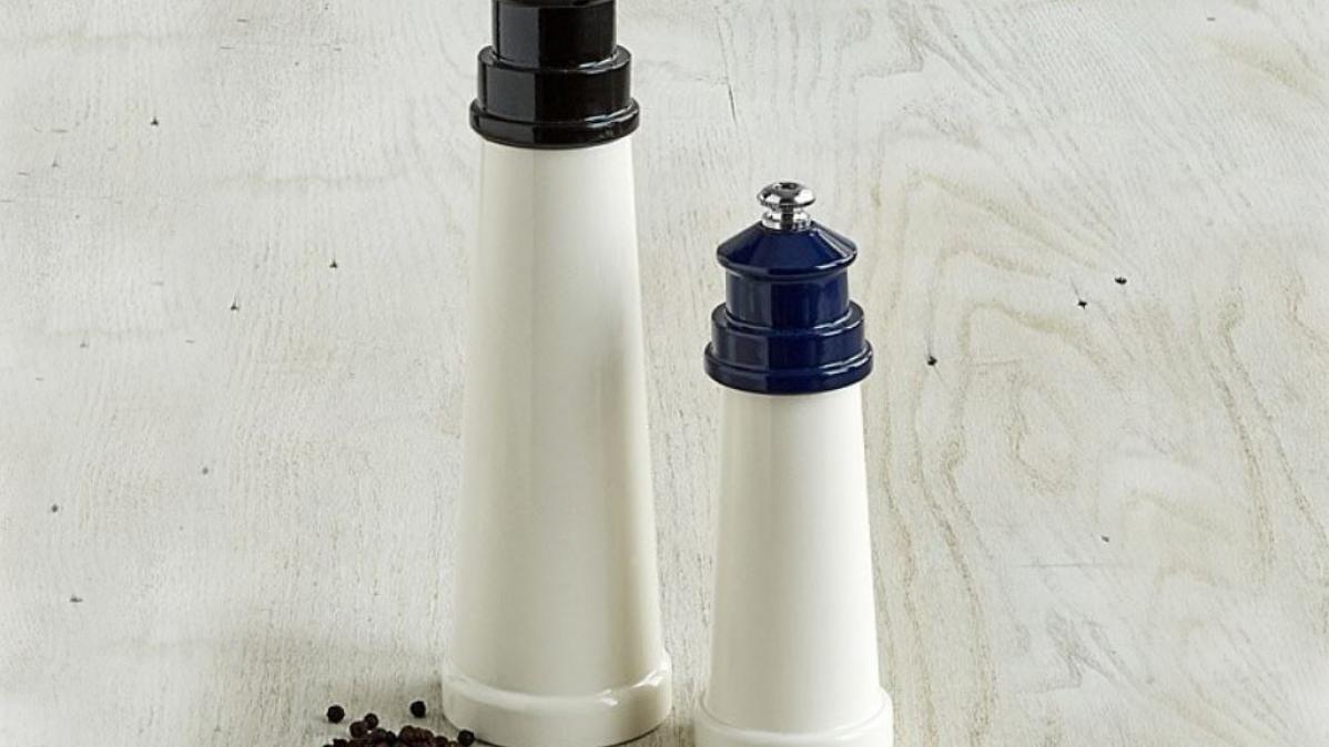 Lighthouse Inspired Salt and Pepper Mills