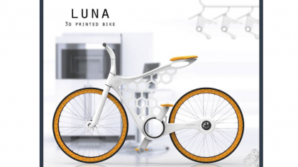 LUNA 3D Printed Nylon Frame Bicycle