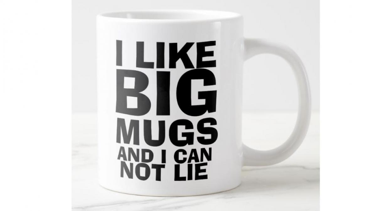 Comical Extra Large Ceramic Coffee Mug