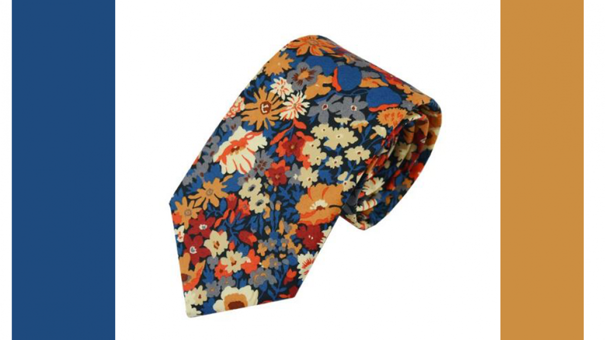 Floral Autumn Tie For Seasonal Fashion