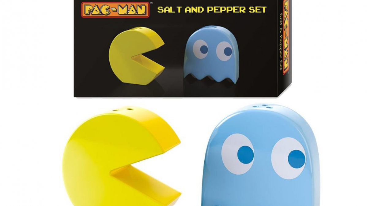 Retro Pac-Man Salt and Pepper Shaker Set