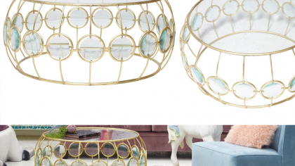 Art Deco Inspired Java Coffee Table