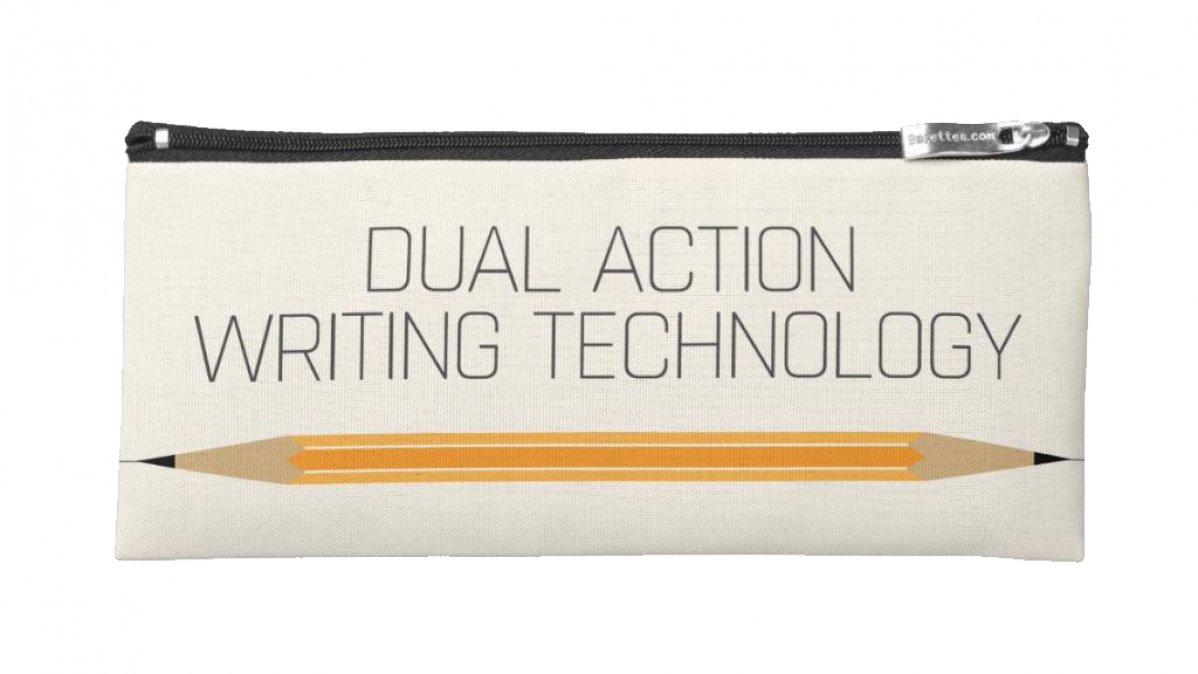 Dual Action Writing Technology Pencil Case