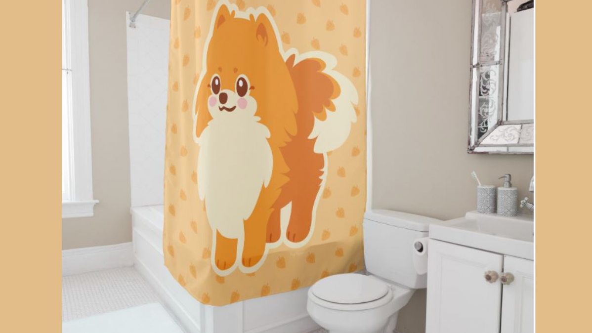 Adorable Puppy Dog Shower Curtains