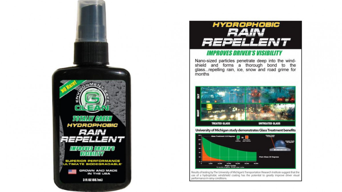Hydrophobic Rain Repellent