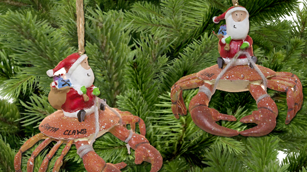 Nautical Santa Claws Tree Ornament