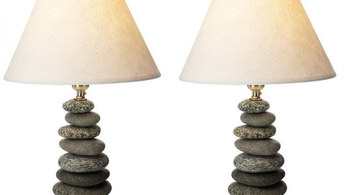 Stone Column Coastal Accent Lamp