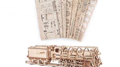 Functioning Wooden Locomotive Model Kit