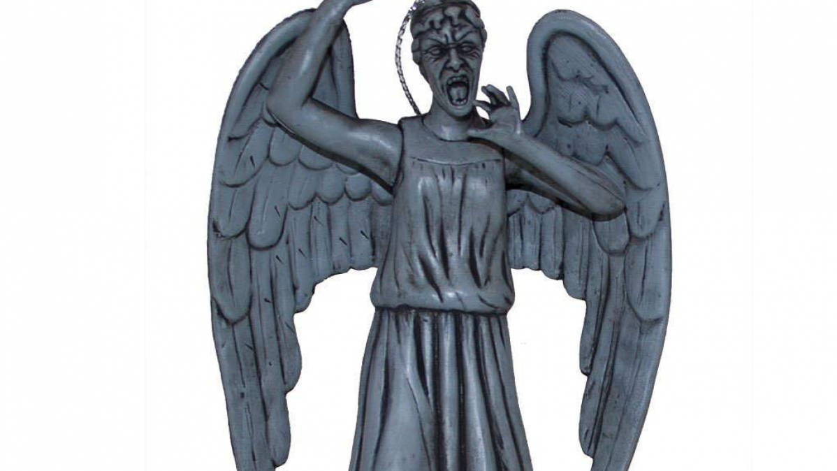 Dr Who Weeping Angel Christmas Ornament