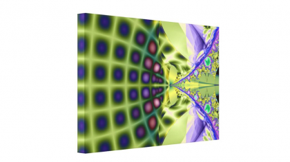 Cool Geometric Fractal Modern Art Print