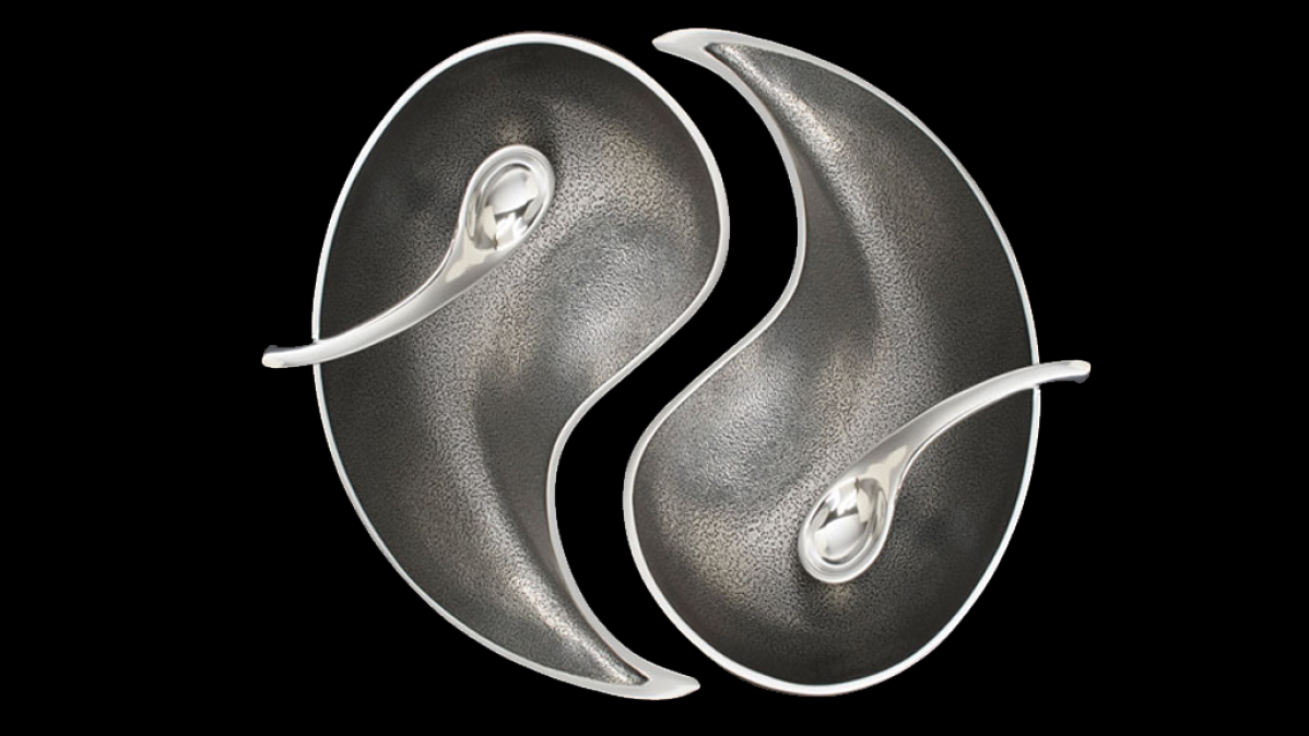 Balanced Diet Yin Yang Serving Bowls Set