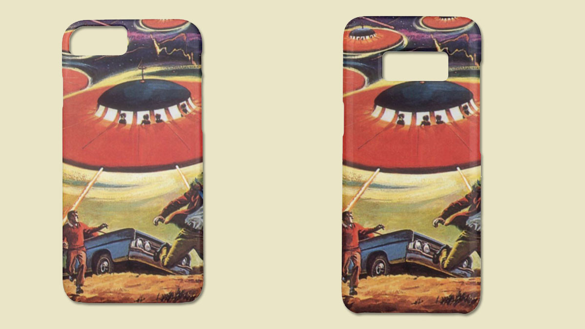 Vintage Science Fiction Alien Smartphone Case