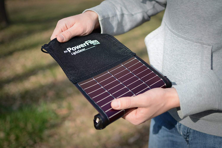 Solar Powered Rollup Battery Pack That Can Be Used Anywhere