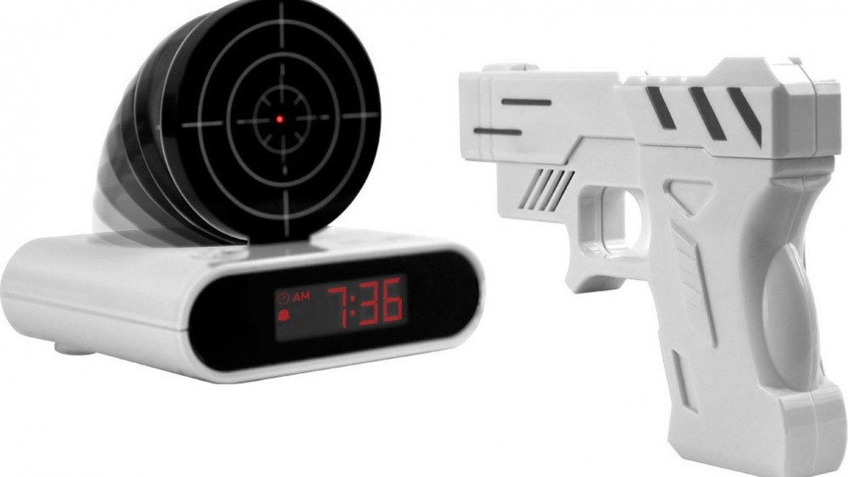 Gun Target Clock