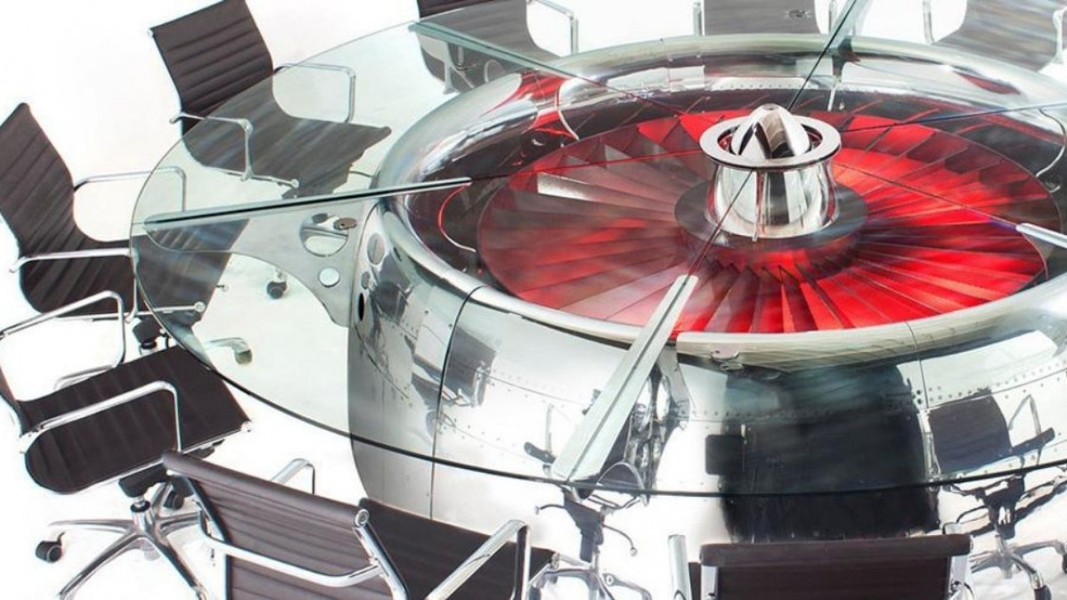 Recycled Jet Engine Conference Table