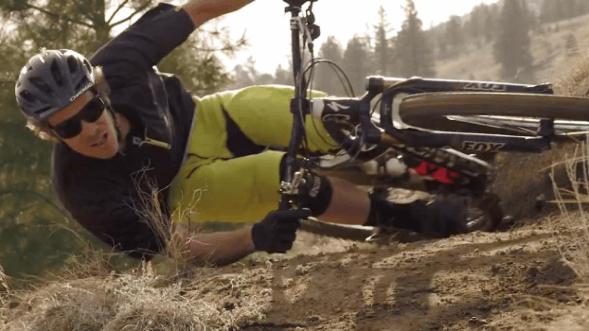Gravity Defying Bicycle Stunt